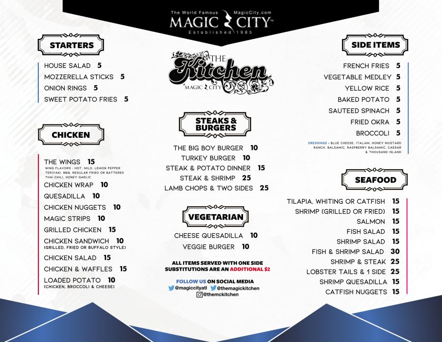 Magic City Kitchen Menu