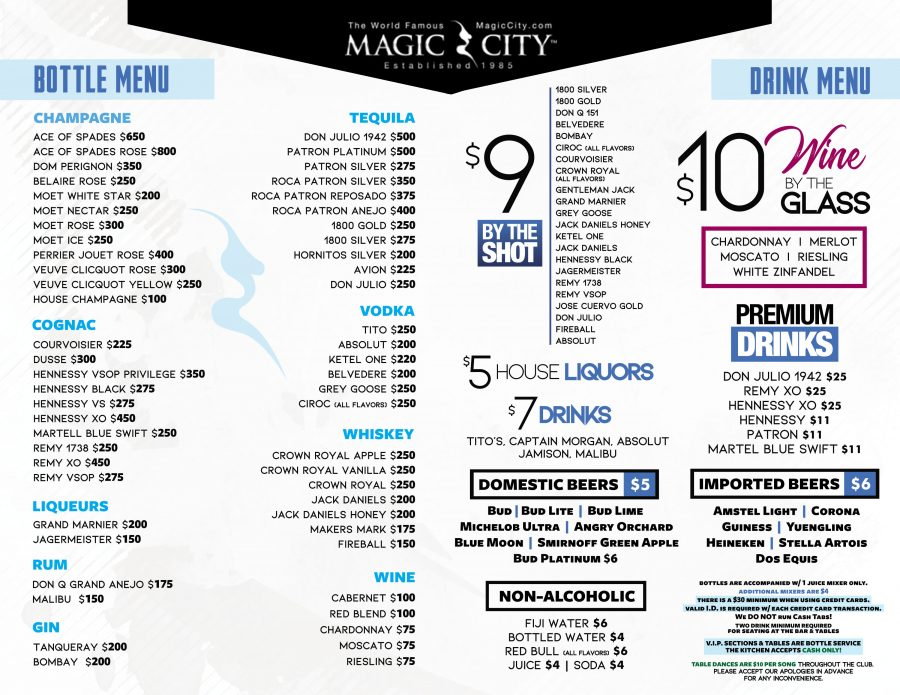 Magic City Bottle & Liquor Menu